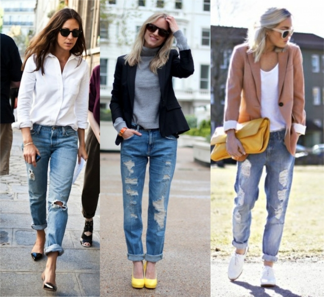 how to wear destroyed jeans