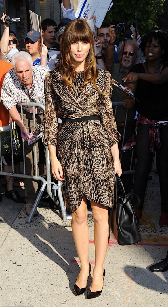 """Jessica Biel Arrives at """"The Daily Show"""""""