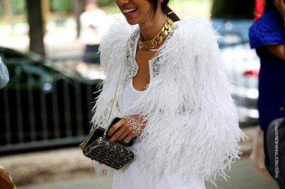 la-modella-mafia-Natasha-Goldenberg-fashion-editor-street-style-in-a-white-fur-Celine-chain-necklace-and-hand-piece-1