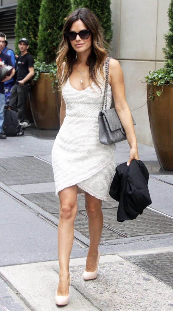 Rachel Bilson walking around in NYC