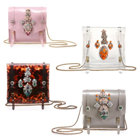 Shourouk_Shoulder_Bag_PVC_Clear_Tortoise_Jewel_Embellished_Crystal_Swarovski_Chain