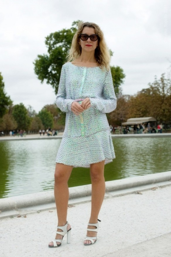 wayne-tippetts-mint-natalie-joos-sequined-paillettes-dress-fashion-week-street-style