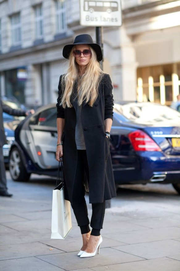 black-long-coat-white-shoes