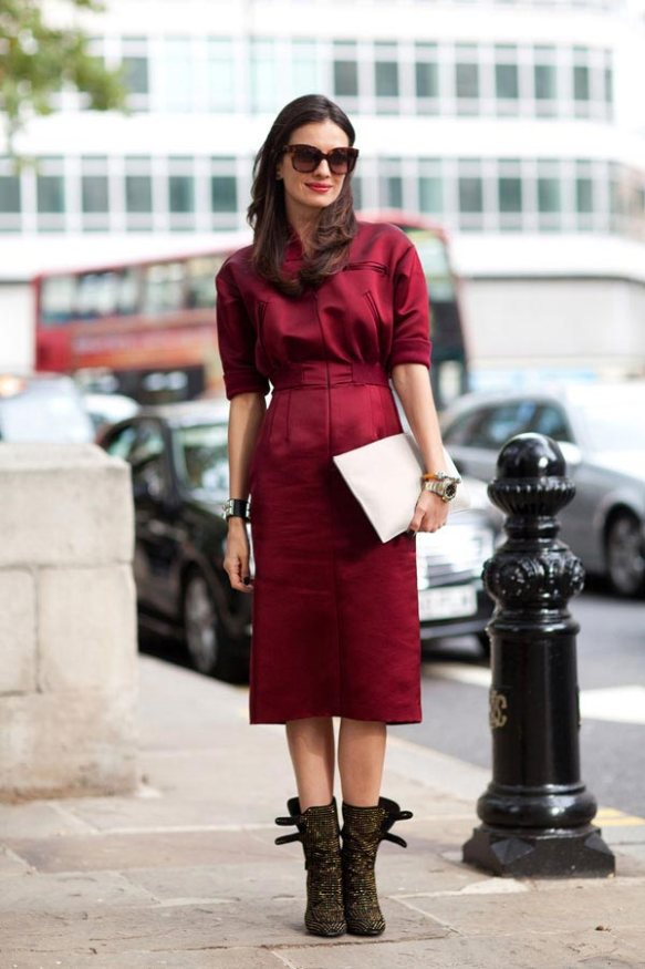 Street-Style-London-red